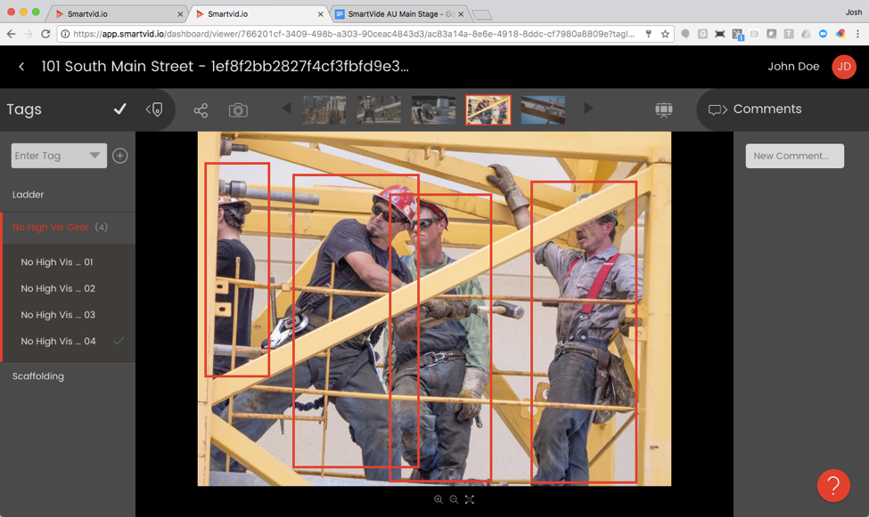 """Image tagged as workers having """"No high visibility PPE"""" (Image courtesy of ENR)"""